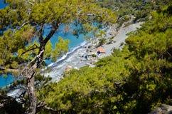 Plage d'Agios Pavlos Photographie stock libre de droits