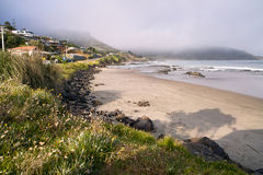 Plage d'Ahipara Photographie stock