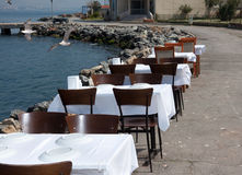 PLAGE d'air ouvert reastaurant Images stock
