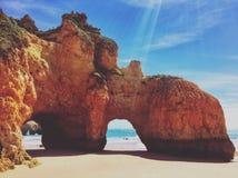 Plage d'Algarve Photo libre de droits