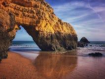 Plage d'Algarve Photos stock