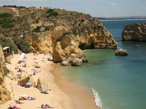 plage d'Algarve Photo stock