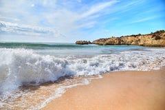 Plage d'Algarve, Portugal Image libre de droits