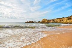 Plage d'Algarve, Portugal Photo stock