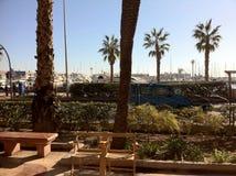Plage d'Alicante Espagne de yacht Photographie stock libre de droits