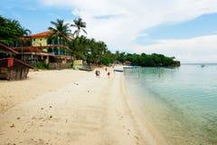 Plage d'Alubihod, île de Guimaras, Philippines Photographie stock