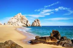 Plage d'amants, Cabo San Lucas Images libres de droits