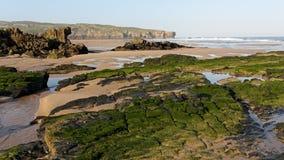 Plage d'Amoreira dans le sud-ouest l'Alentejo et Costa Vicentina Natura Image stock