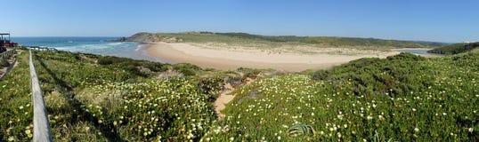 Plage d'Amoreira dans le sud-ouest Portugal Images libres de droits