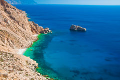 Plage d'Amorgos en Grèce Photo stock