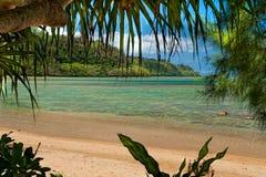 Plage d'Anini - Kauai Hawaï Photos libres de droits