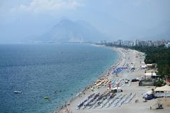 Plage d'Antalya Photographie stock