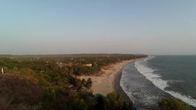 Plage d'Arambol dans Goa, Inde clips vidéos
