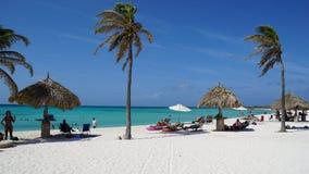 Plage d'Arashi dans Aruba Photo libre de droits