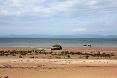 Plage d'Ardrossan images stock