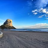 Plage d'Arenal - Calpe, Espagne Images stock