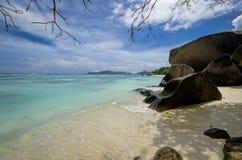 Plage d'Argent de source d'Anse Image stock