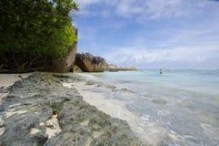 Plage d'Argent de source d'Anse Images stock