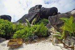 Plage d'Argent de source d'Anse Image libre de droits