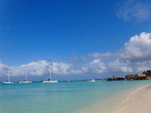 Plage d'Aruba Photo stock