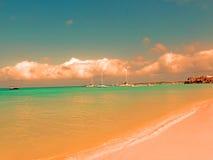 Plage d'Aruba Images libres de droits