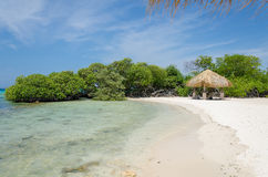 Plage d'Aruba Photos libres de droits