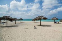 Plage d'Aruba en hiver Images stock