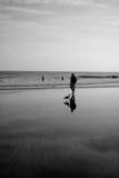 Plage d'Atlantic City Photographie stock