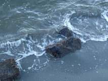 Plage d'avant de l'eau de verger de port Image libre de droits