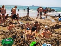 Plage d'eau chaude, Nouvelle-Zélande Images libres de droits
