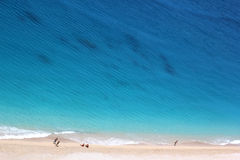 Plage d'Egremni, île de Leucade Photos libres de droits