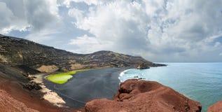 Plage d'EL Golfo, Lanzarote Images stock