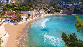 Plage d'EL Portet de playa de Moraira dans Alicante Photo libre de droits