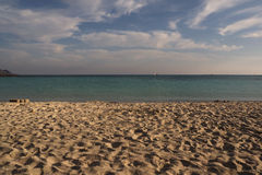 Plage d'Elafonissi Photo stock