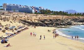 Plage d'Esmeralda à Fuerteventura Photographie stock