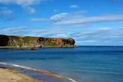 Plage d'Eyemouth Images stock