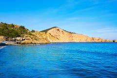 Plage d'Ibiza Cala es Jondal dans San Jose à baléar Photo libre de droits