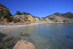 Plage d'Ibiza de bar de salon images libres de droits