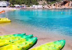Plage d'Ibiza Port de San Miquel San Miguel Photographie stock libre de droits
