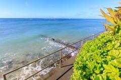 Plage d'Oahu Waikiki images libres de droits