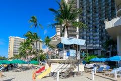 Plage d'Oahu Waikiki image stock