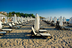 Plage d'oasis. Images stock