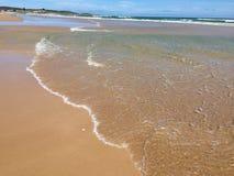 Plage d'océan de l'eau Photo libre de droits