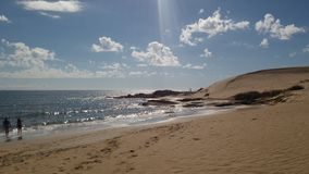 Plage d'océan de sable Image stock