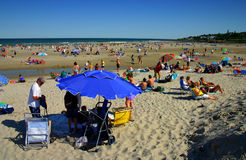 Plage d'Ogunquit, Maine Photographie stock