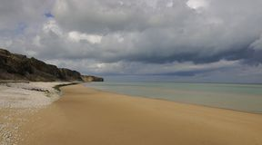 Plage d'Omaha, Normandie Images stock
