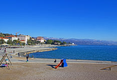 Plage d'Opatija Abbazia Images stock