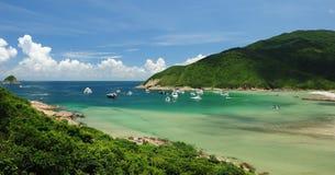 Plage d'origine dans Sai Kung Photos libres de droits