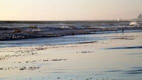 Plage d'Ormond de coucher du soleil de plage Image libre de droits