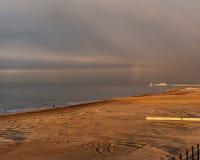 Plage d'Ostende Photos libres de droits
